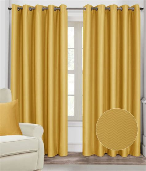 Yellow Black Out Curtains Mustard Yellow Herringbone Chevron Eyelet Ring Top Thermal Blackout Curtains Ebay