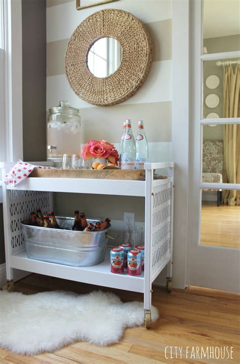 rustic glam home decor rustic glam tv cart makeover into a bar cart city farmhouse