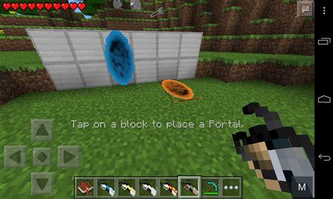 mods for minecraft pe portal gun mod mcpe minecraft pocket edition minecraft pe mcpe
