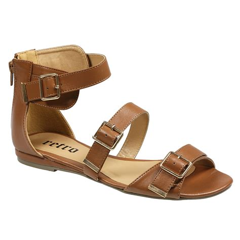 gladiator low wedge sandals womens fashion low wedge zip buckle strappy