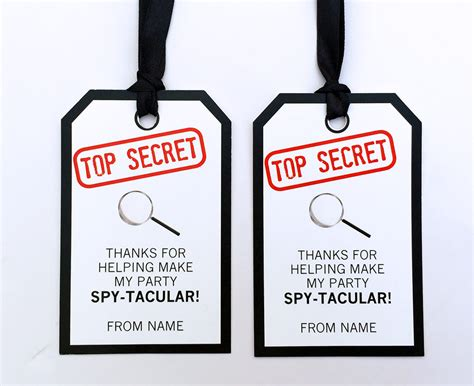 Spy Party Printables Invitations Decorations Secret Agent Free Bond Invitation Template