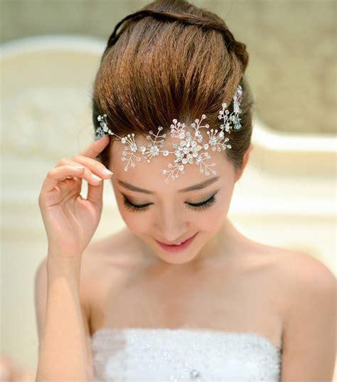 Wedding Hair Accessories Sale by Aliexpress Buy Sale Rhinestone Handmade Flower