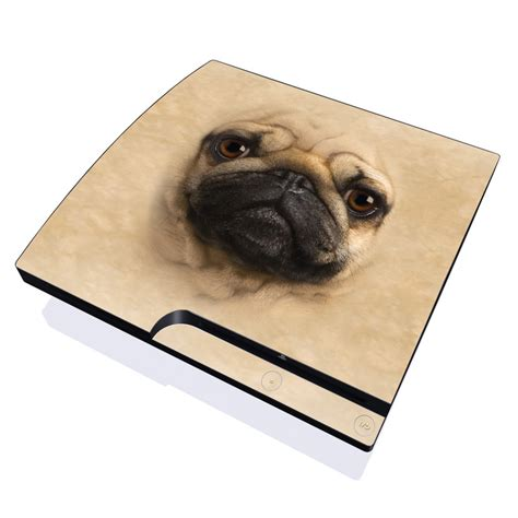 pug skin pug playstation 3 slim skin covers sony playstation 3 for custom style and protection