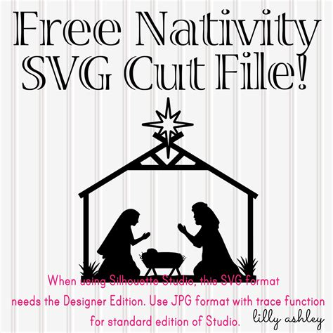 free nativity cricut three fold card template make it create by lillyashley freebie downloads free