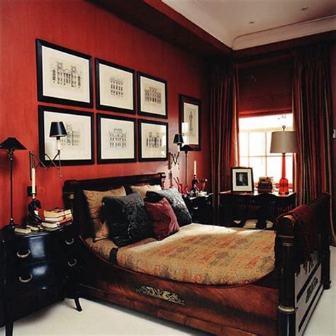 dark red bedroom stylish spaces designed for living paprika a mild red