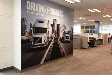 volvo corporate headquarters volvo trucks corporate office wall graphics graphic