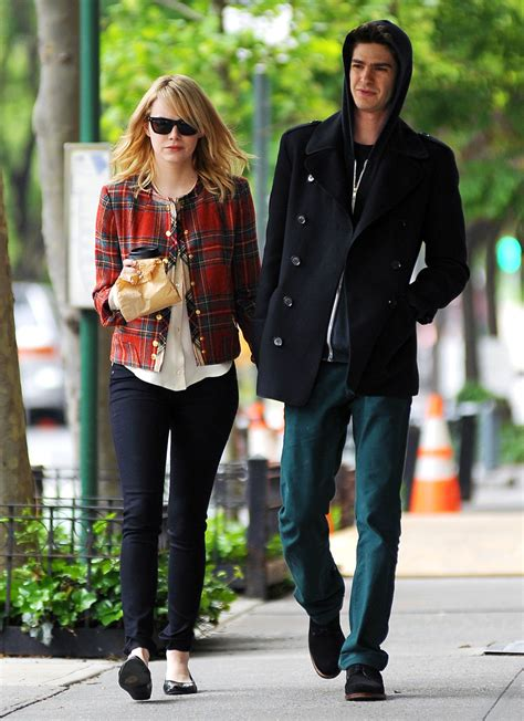 emma stone andrew garfield emma stone and andrew garfield in rag bone celebrities