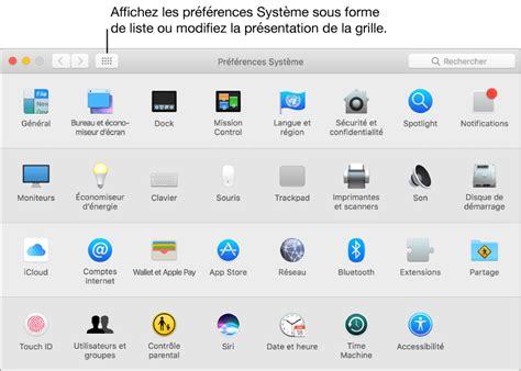 icone bureau mac macos modifier des r 233 glages dans pr 233 f 233 rences syst 232 me