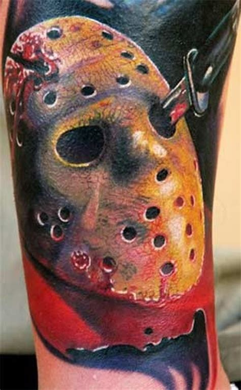 jason voorhees tattoos friday the 13th tattoos geekshizzle