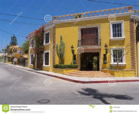 Adobe Style House Plans mexican architecture stock photos image 14815933