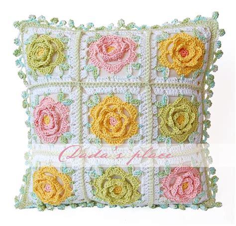 Japanese Pattern Cushions | dada s place japanese flower crochet cushion pattern