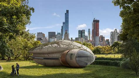 central park park thinking central park exhibition reimagines park with fantastical refuges and shelters