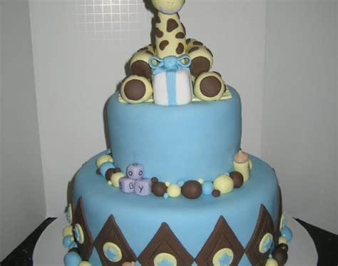 tickled pink cakes bouncing baby boy shower cake