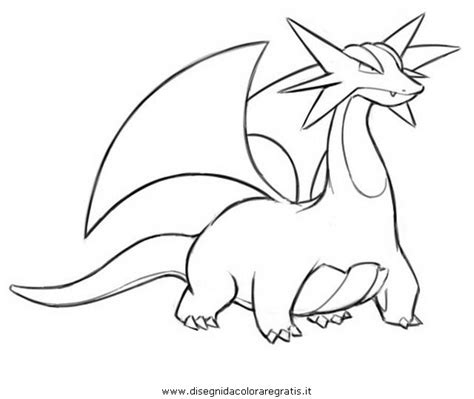 pokemon coloring pages mega salamence free coloring pages of pokemon salamence