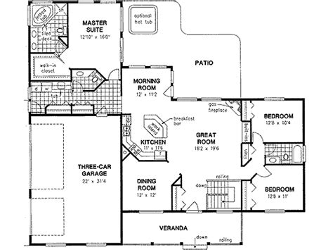 2 Bedroom 2 Bath Ranch House Plans by Ranch Style House Plans 2022 Square Foot Home 1 Story