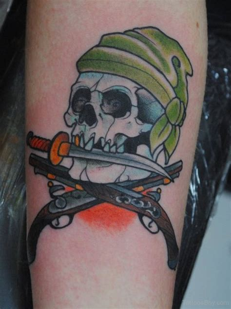 pirate skull tattoo skull tattoos designs pictures page 2