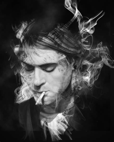 Find To Smoke With Kurt Cobain Smoke Lift Grayscale By Sarangpurandare On Deviantart