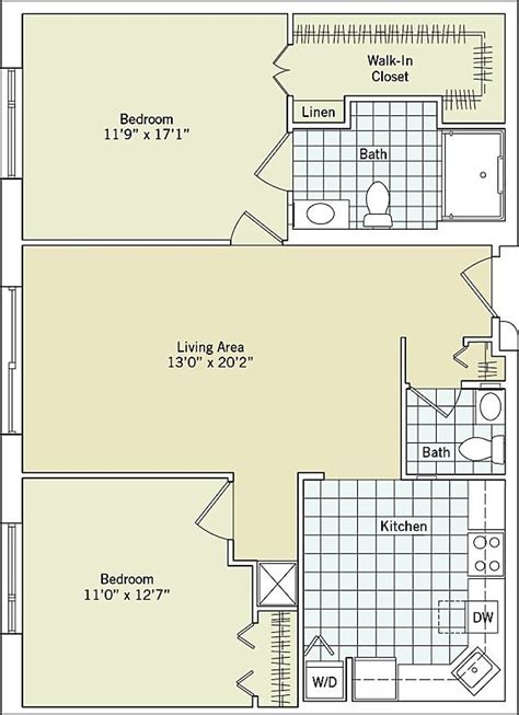 extra large two bedroom one and a half bath interactive floor plan greenspring