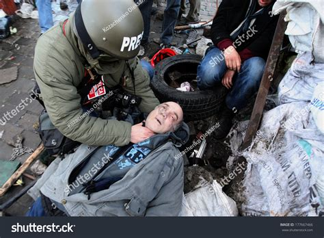 Where Can I Get A Background Check Near Me Kiev Ukraine February 18 2014 Photojournalist Checks The Pulse Of A Dead