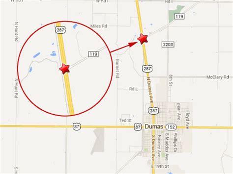 map of dumas texas five killed in dumas tx semi truck truck lawyer news