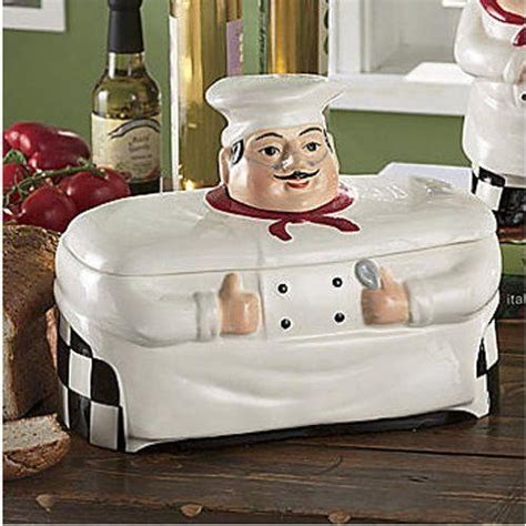 Where To Buy Chef Kitchen Decor bistro chef kitchen decor cookie jar canister home