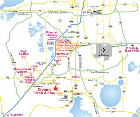 printable orlando area map map of orlando attractions my blog
