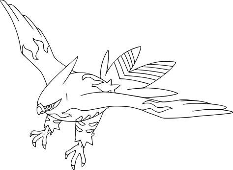 pokemon xyz coloring pages coloriage flambusard pokemon 224 imprimer