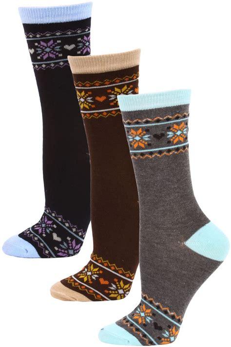 Mamia Brown mamia s fairisle crew socks
