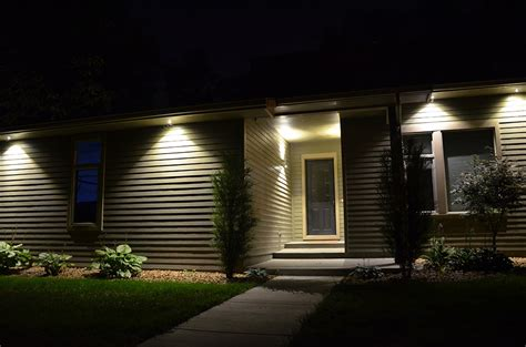exterior led soffit lighting entertaining outdoor soffit lighting led puck led lighting