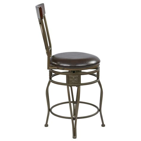 office bar stools office star cosmo 24 metal swivel counter espresso bar