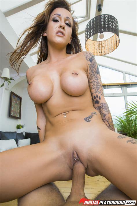Tattooed Beauty Is Slowly Getting Naked Photos Chantelle Fox Milf Fox
