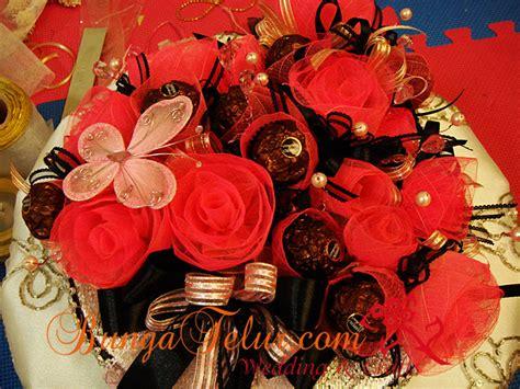 Sale Undangan Hardcover Mk Coklat Gold gubahan coklat bunga ros daun getah for sale a