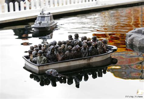 the art guide to dismaland banksy s bemusement park 58 - Dismaland Refugee Boat