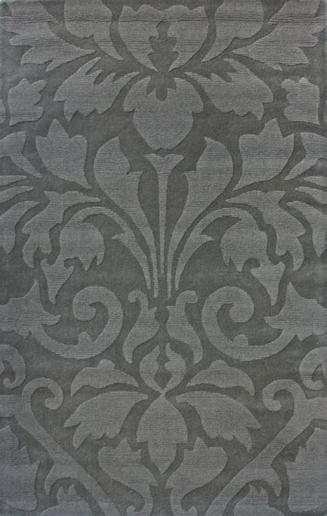 Grey Damask Rug by Rugs Usa Spectrum Modern Damask Light Blue Rug
