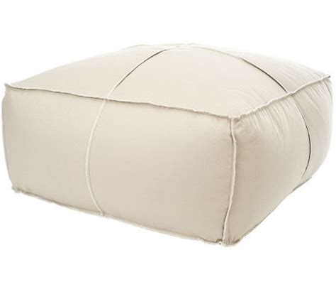 large poof floor pillow qvc