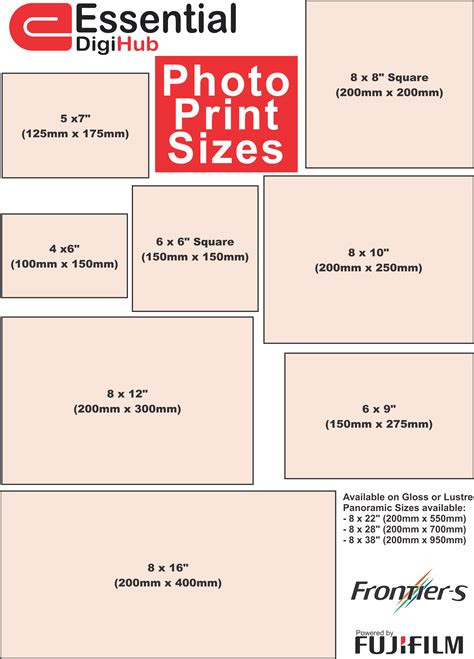 printable poster size picture print sizes price chart printable 360 degree