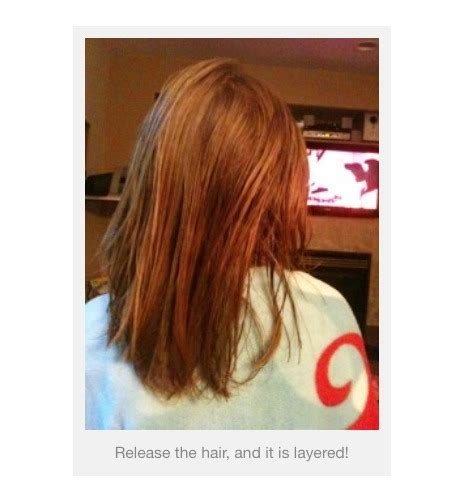 5 minute diy layered haircut the diy 5 minute layered hair cut trusper