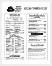 750 menu templates free sample example format