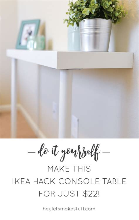 picture of diy ikea hack narrow console table best 25 ikea console table ideas on pinterest entry