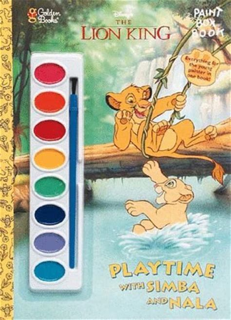 Disney Comics The King Read And Play playtime with simba and nala with paint brush and paint