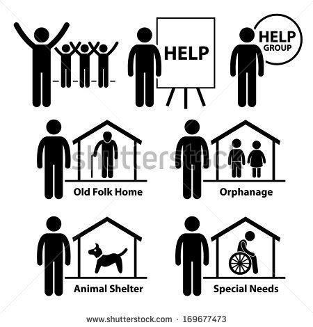 non profit service non profit social service responsibilities foundation volunteer stick figure pictogram
