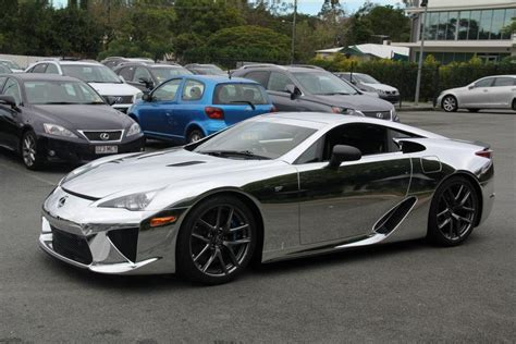 chrome wrapped cars chrome wrapped lexus lfa car tuning
