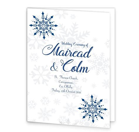 layout of wedding mass booklet snowflake wedding mass booklet cover loving invitations