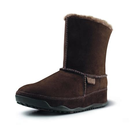 fitflop mukluk brown suede ankle boots mozimo