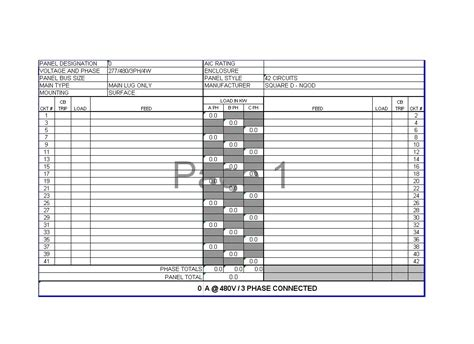 electrical panel layout template free printable electrical panel schedules calendar