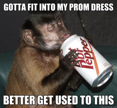 Sexy Monkey Meme - gotta fit into my prom dress better get used to this dr