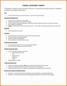 8 formal lab report format invoice exle 2017