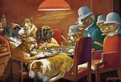 dogs playing poker animals zone