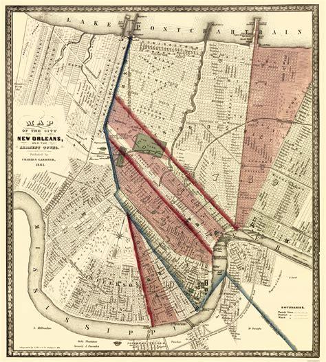 new orleans historical maps historic city maps new orleans louisiana la by a hoen