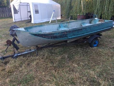 12ft jon boat with trailer 12ft aluminum boat with trailer outside victoria victoria